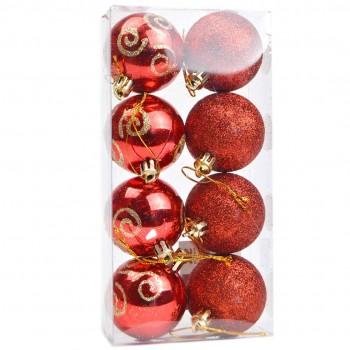 Bola Natal (8) 5 cm Vermelha