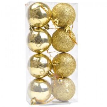 Bola Natal (8) 5 cm Dourada