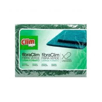 Clim Esfregão Fibra Verde pk 2