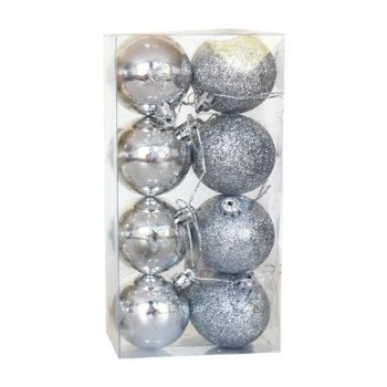Bola Natal (8) 5 cm Prateada