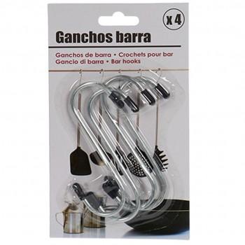 Conj 4 Ganchos Metal