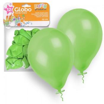 Balões Verde 23 cm pk 12